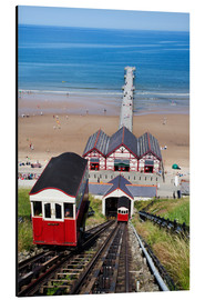 Alubild  Cliff Tramway and the Pier at Saltburn by the Sea, Redcar and Cleveland, North Yorkshire, Yorkshire, - Mark Sunderland