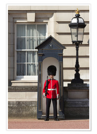 Premium-Poster Grenadier Guardsman outside Buckingham Palace, London, England, United Kingdom, Europe