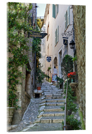 Acrylglas  Gasse in Saint-Paul-de-Vence - Stuart Black