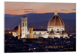Acrylglas  Duomo at night from Piazza Michelangelo, Florence, UNESCO World Heritage Site, Tuscany, Italy, Europ - Stuart Black