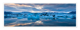Premium-Poster Jokulsarlon, South Iceland, Northern Europe