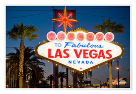 Poster  Las Vegas Sign
