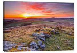 Leinwandbild  Morgen im Dartmoor Nationalpark - Julian Elliott