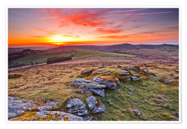 Premium-Poster  Morgen im Dartmoor Nationalpark - Julian Elliott