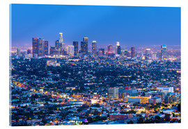 Acrylglas  Cityscape of the Los Angeles skyline at dusk, Los Angeles, California, United States of America, Nor - Chris Hepburn