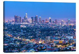 Leinwandbild  Cityscape of the Los Angeles skyline at dusk, Los Angeles, California, United States of America, Nor - Chris Hepburn