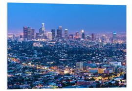 Hartschaumbild  Cityscape of the Los Angeles skyline at dusk, Los Angeles, California, United States of America, Nor - Chris Hepburn