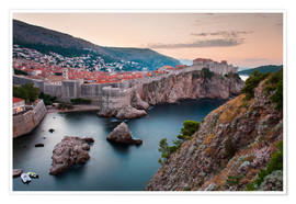Poster  Dubrovnik bei Sonnenaufgang - Matthew Williams-Ellis
