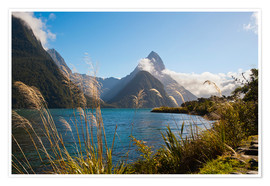 Premium-Poster  Mitre Peak, Milford Sound - Matthew Williams-Ellis