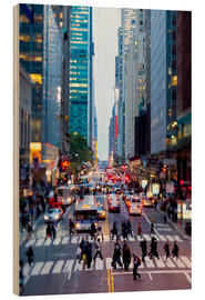 Holzbild  42nd Street in Manhattan - Gavin Hellier