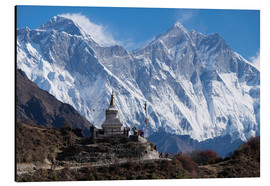 Alu-Dibond  Tenzing Norgye Stupa & Mount Everest - John Woodworth