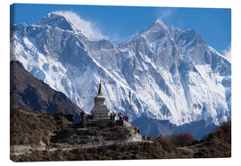 Leinwandbild  Tenzing Norgye Stupa & Mount Everest - John Woodworth