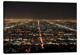 Leinwandbild  Los Angeles bei Nacht - Wendy Connett