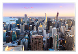 Premium-Poster  Chicago skyline - Amanda Hall