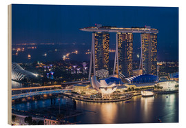 Holzbild  Marina Bay Sands Hotel - Gabrielle & Michel Therin-Weise