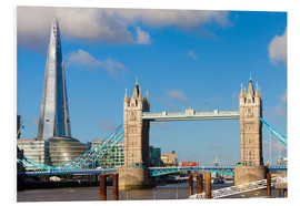 Hartschaumbild  The Shard & Tower Bridge - Miles Ertman