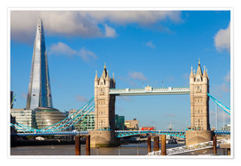 Premium-Poster The Shard & Tower Bridge