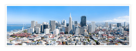 Premium-Poster  San Francisco Skyline im Sommer - Jan Christopher Becke