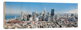 Holzbild  San Francisco Skyline im Sommer - Jan Christopher Becke