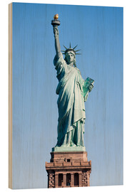 Holzbild  Freiheitsstatue in New York USA - Jan Christopher Becke