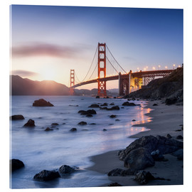 Acrylglasbild  San Francisco Golden Gate Bridge - Jan Christopher Becke