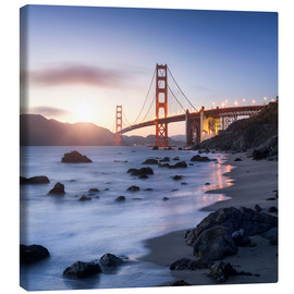 Leinwandbild  San Francisco Golden Gate Bridge - Jan Christopher Becke