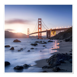 Premium-Poster San Francisco Golden Gate Bridge
