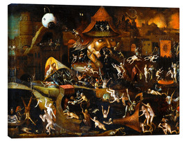 Leinwandbild  The harrowing of hell - Hieronymus Bosch
