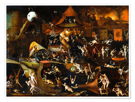 Premium-Poster  The harrowing of hell - Hieronymus Bosch