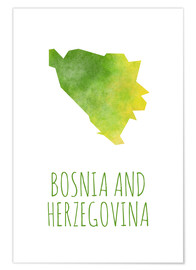 Premium-Poster Bosnia and Herzegovina