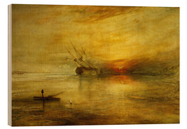 Holzbild  Fort Vimieux - Joseph Mallord William Turner