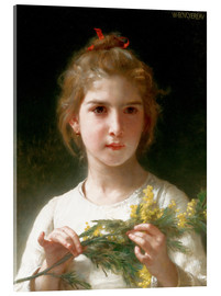 Acrylglas  Die Mimosen blühen - William Adolphe Bouguereau