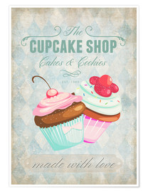 Poster  Cupcake Shop - Andrea Haase