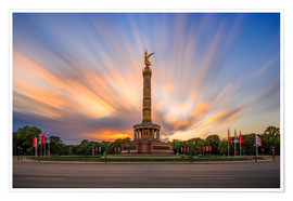 Premium-Poster  Chick on a stick - Siegessäule - Photovojac