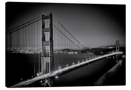 Leinwandbild  Golden Gate Bridge am Abend - Melanie Viola