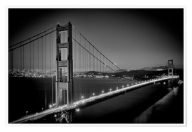 Premium-Poster Golden Gate Bridge am Abend