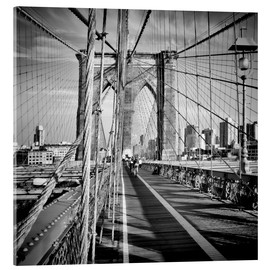 Acrylglasbild  NYC Brooklyn Bridge Flair - Melanie Viola