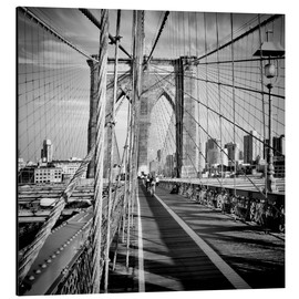 Alu-Dibond  NYC Brooklyn Bridge Flair - Melanie Viola