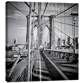 Leinwandbild  NYC Brooklyn Bridge Flair - Melanie Viola