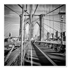 Premium-Poster NYC Brooklyn Bridge Flair
