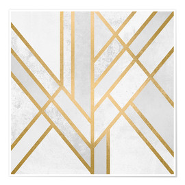 Premium-Poster Art Deco Geometry