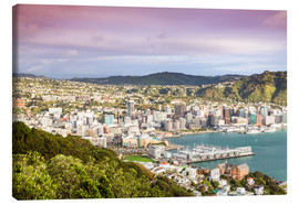Leinwandbild  Wellington am Morgen, Neuseeland - Matteo Colombo
