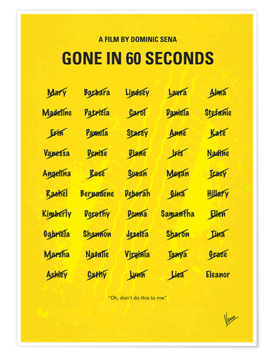 Premium-Poster Gone In 60 Seconds