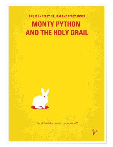 Premium-Poster No036 My Monty Pyton And The Holy Grail minimal movie poster