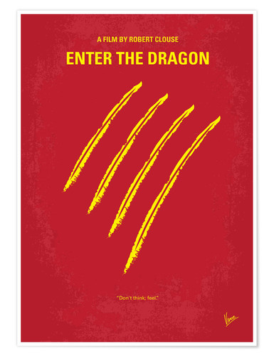 Premium-Poster Enter The Dragon