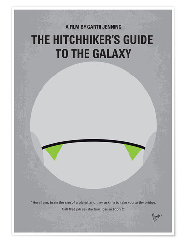 Premium-Poster The Hitchhiker's Guide To The Galaxy