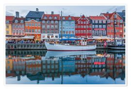 Premium-Poster Nyhavn reflected