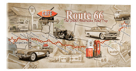 Acrylglas  Route 66 Map - Georg Huber