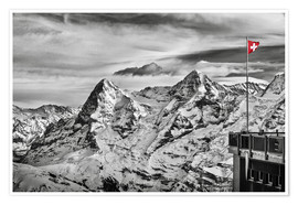 Premium-Poster  Swiss Flag - Tanja Arnold Photography