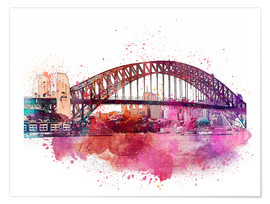 Premium-Poster Sydney Harbor Bridge